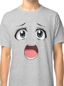 Anime face blue eyes Classic T-Shirt