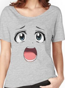 Anime face blue eyes Women's Relaxed Fit T-Shirt
