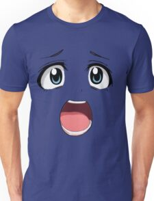 Anime face blue eyes Unisex T-Shirt