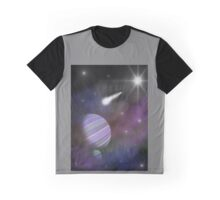 Purple Outer Space Graphic T-Shirt