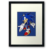 -GEEK- Sonic The Hedgehog Framed Print