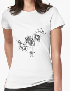 Camera 'Sony Alpha 900' Diagram. Womens Fitted T-Shirt
