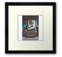 Graffiti Bench Framed Print