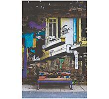 Graffiti Bench Photographic Print