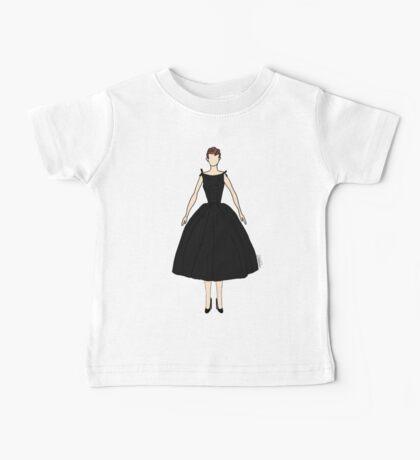 Dolls Pattern White Baby Tee