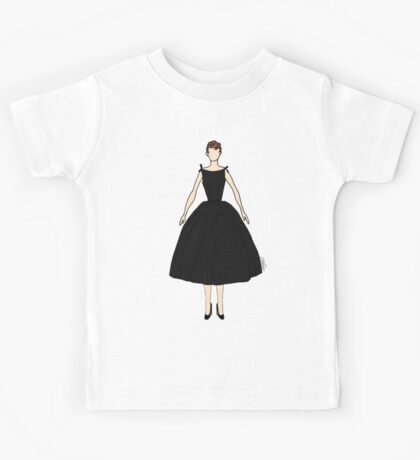 Dolls Pattern White Kids Tee