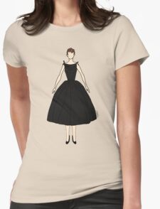 Dolls Pattern White Womens Fitted T-Shirt