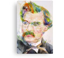 FRIEDRICH NIETZSCHE - watercolor portrait.9 Canvas Print