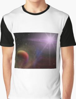 Multi Color Outer Space Graphic T-Shirt