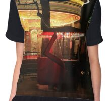 Merry go round at night in London Chiffon Top