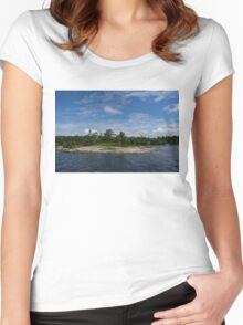 An Island of Pink Granite - Georgian Bay Canadian Landscapes Women's Fitted Scoop T-Shirt