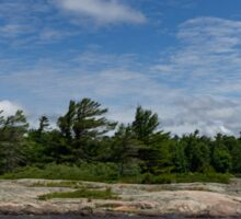 An Island of Pink Granite - Georgian Bay Canadian Landscapes Sticker
