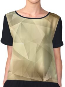 Abstract Crystal Background Chiffon Top