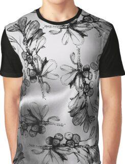 Monochrome Berries Graphic T-Shirt