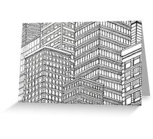 Skyscrapers Greeting Card