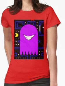 Retro Pac Man Monster Gamin Smile Womens Fitted T-Shirt