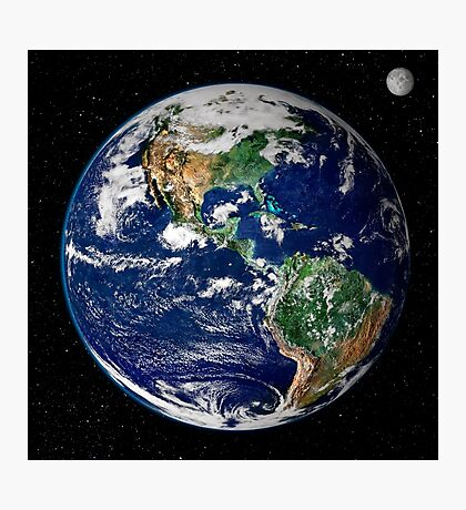 Earth from Space Photographic Print