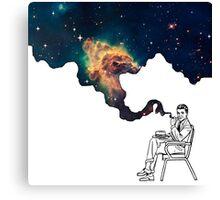 Galaxy Smoke Canvas Print