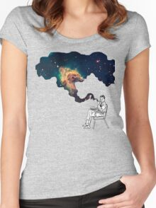 Galaxy Smoke Women's Fitted Scoop T-Shirt