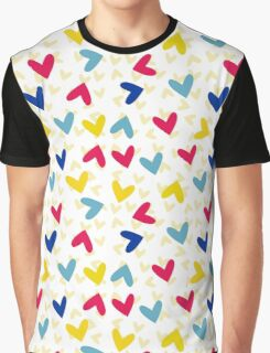 color heart Graphic T-Shirt