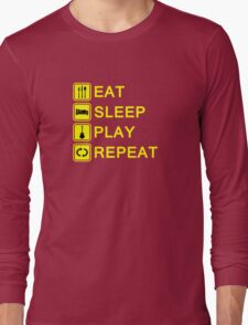 Guitar player routine (yellow) Long Sleeve T-Shirt