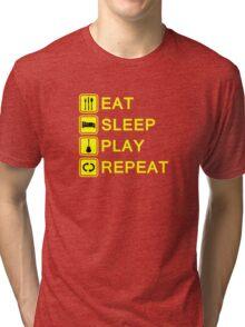 Guitar player routine (yellow) Tri-blend T-Shirt
