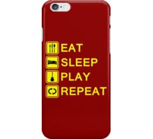 Guitar player routine (yellow) iPhone Case/Skin