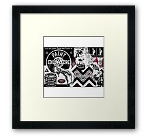 Paint it Black Framed Print