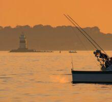 Fishing The Evening Tide Sticker