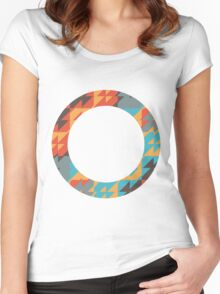 Colorful ring Women's Fitted Scoop T-Shirt