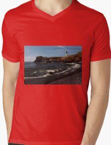 Lighting The Oregon Coastline ©  Mens V-Neck T-Shirt