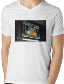 Fluorescent Detroit Mens V-Neck T-Shirt