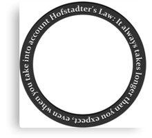Hofstader's Law Canvas Print
