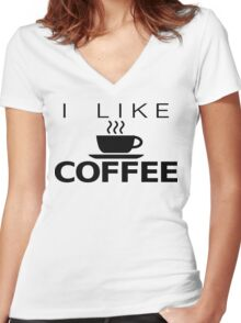 I like Coffee Women's Fitted V-Neck T-Shirt