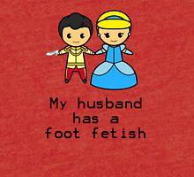My husband has a foot fetish Tri-blend T-Shirt