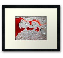 Red Run Framed Print