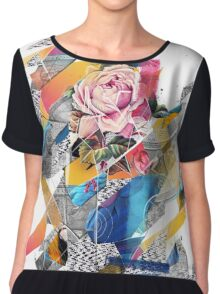 Distorted still life of the flower and the bird Chiffon Top