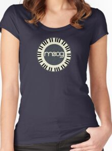 Wonderful vintage moog synth Women's Fitted Scoop T-Shirt