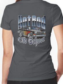 Cartoon Hot Rod Women's Fitted V-Neck T-Shirt