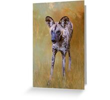 African Wild Dog! Greeting Card
