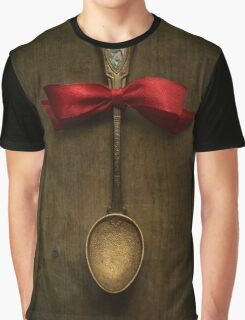 Red bow and ornamented spoon Graphic T-Shirt