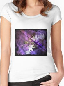 Moody and fresh freesia   Women's Fitted Scoop T-Shirt