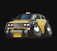 Cartoon taxi car Kids Tee