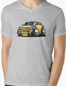 Cartoon taxi car Mens V-Neck T-Shirt