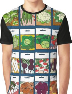 Vegetable seeds pattern Graphic T-Shirt