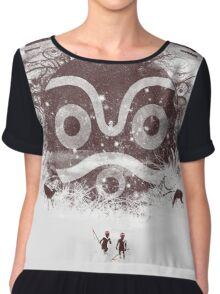 new forest defenders Women's Chiffon Top
