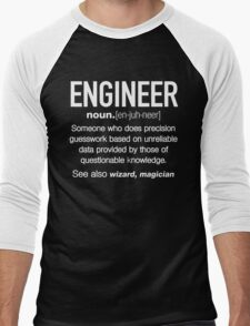 Engineer Definition Funny T-shirt Men's Baseball ¾ T-Shirt