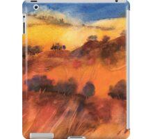 Colline toscane sotto il cielo turchino iPad Case/Skin