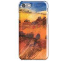 Colline toscane sotto il cielo turchino iPhone Case/Skin