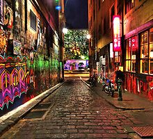 Graffiti in Hosier Lane Melbourne by Richard Munckton